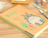 Totoro Large Notebook - Lined Paper, Notepad, Journal, Kawaii Stationary