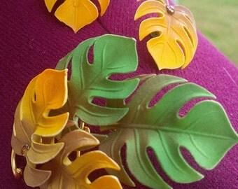 Vintage Leaves Jewelry Set