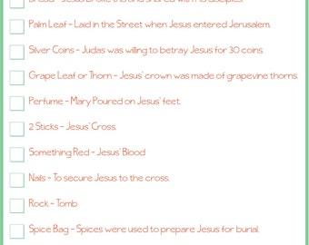 Instant download Easter Scavenger Hunt // Easter Resurrection Hunt Clues