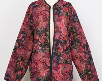red floral jacket