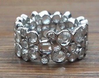 Clear cz bubble band