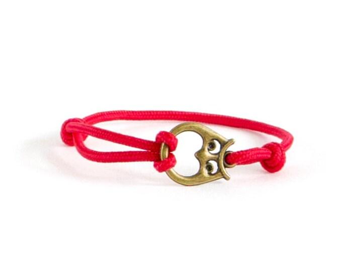 Mens Bracelet, Survival Bracelet, Nautical Bracelet, Paracord Owl Jewelry