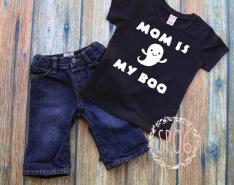 mom is my boo,toddler halloween shirt,halloween shirt,first halloween,boys halloween,girls halloween,halloween costume,ghost