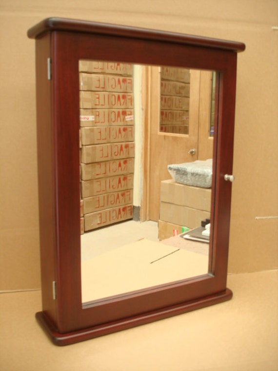 Cherry Medicine Cabinet & Mirror Handcrafted with Solid Wood