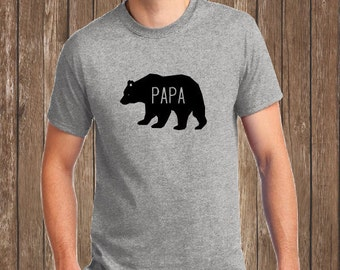 Papa Bear Shirt, Dad Shirt, Papa Bear Dad Shirt, Fathers Day Gift, New Dad, Bear Family Shirt, Daddy Bear