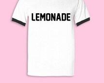 Lemonade Shirt T-shirt Tshirt Tee Shirt Slay Shirt Formation Tour Shirt Cute Tops 90s Clothing Flawless Boy Bye