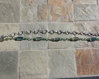 Blue & Gray Beaded Bracelet