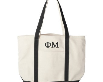 Phi Mu Large Canvas Tote Bag, Phi Mu Beach Bag, Phi Mu College Book Bag, Phi Mu Canvas Tote, Phi Mu Beach Bag