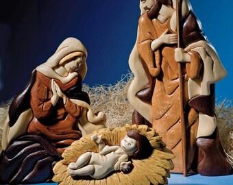 Nativity Three Intarsia Pattern