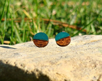 made to order, wooden studs, wooden earrings, wooden stud earrings, plywood studs, plywood earrings, woodburned earrings