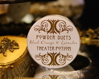 Dusting Powder Bath Powder Blood Orange & Lavender Vanity Powder by Theater Potion