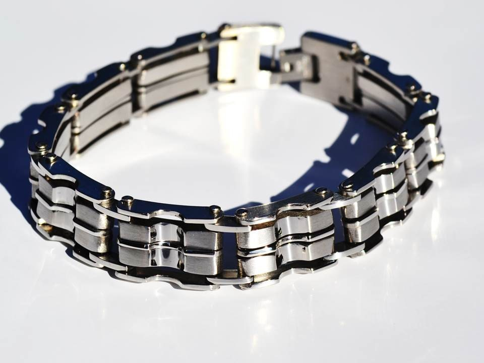 mens titanium bracelet mens steel bracelet bracelet by