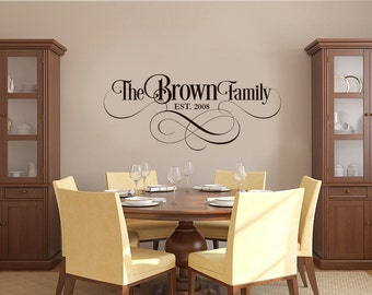 Family Name Wall Decal, Family Name Sign, Family Name, Vinyl Wall Decals, Name Wall Decals, Custom Name Decal, Wedding Wall Decals