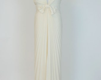 Ivory Halter Maxi Dress