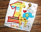 1St Birthday Safari Zoo Shirt/ Animal Safari Shirt/ Boys Zoo Shirt/ Safari Birthday Shirt/ Zoo Animal Birthday Shirt