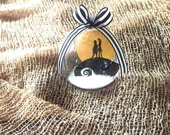 Nightmare Before Christmas Jack and Sally Ornament