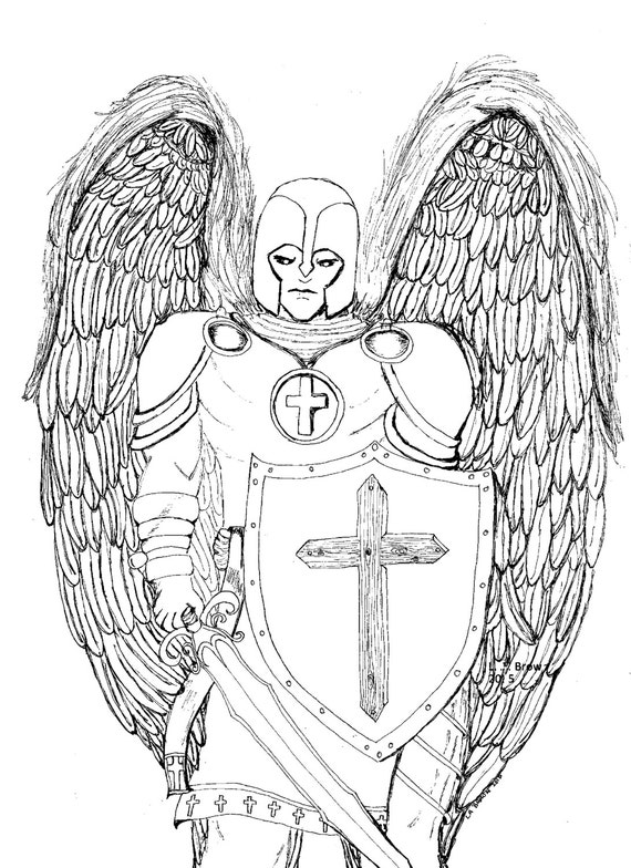 coloring pages of guardian angels - photo#32