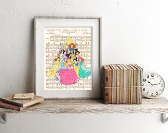 Disney Princesses Art Print