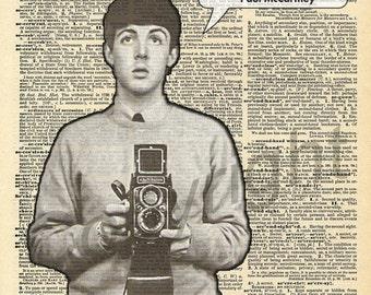 Paul McCartney Selfie Dictionary Art Print