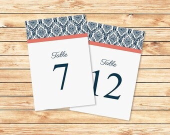 Wedding Table Numbers Wedding Template Printable By