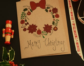 Christmas Card Wreath Design