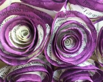 "16"" Dark Purple Painted Book Page Wreath"