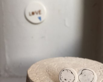 Porcelain Earring # 4 - Handmade jewelry - refined - made in France