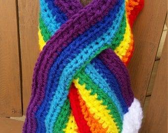 Adult Rainbow Keyhole Scarf