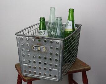 Vintage Wire Gym Basket/Metal Locker Basket