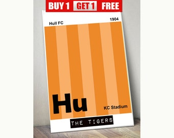 Hull FC print, Hull wall art, The Tigers, Hull prints