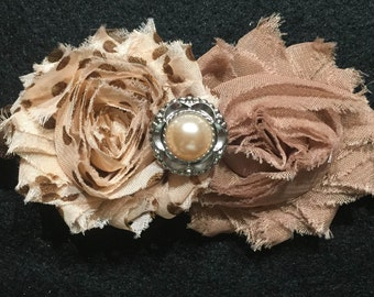 Tan and beige Headband