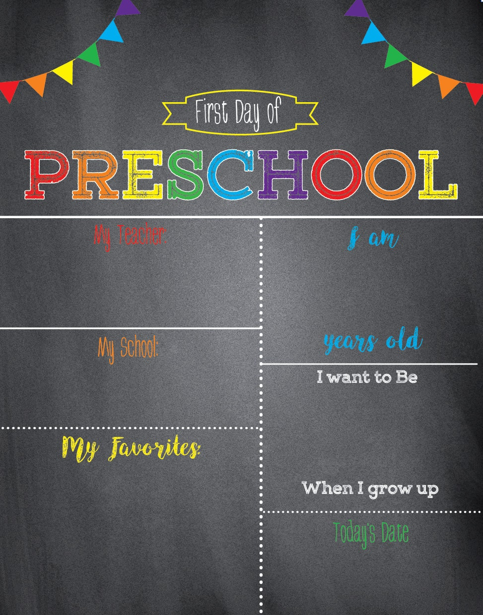 first day of school sign chalkboard school signfirst day of. Black Bedroom Furniture Sets. Home Design Ideas