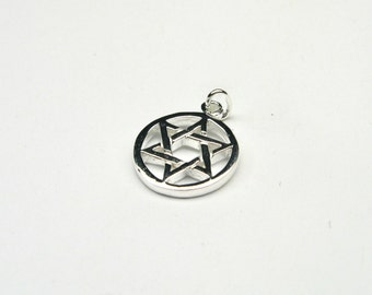 Star of David Hexagram pendant Sterling Silver 925