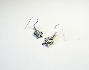 Turtle Earrings Silver 925 Turtle Earring
