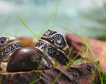 runic engagement rings ethnic jewellery hand made viking wedding rings free shipping - Norse Wedding Rings