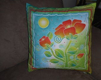 Moonflower Hand Quilted Pillow (3)