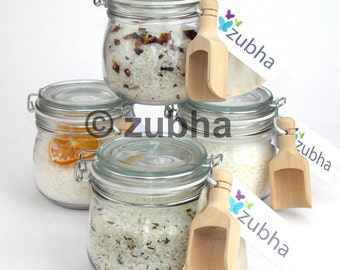 500g Natural Dead Sea Bath Salts / Teas with Essential Oils, Kilner Jar Gift Set