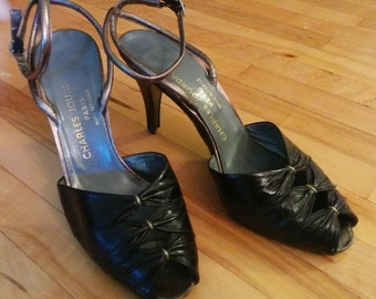 Vintage Womens Charles Jourdan Shoes, US Size 6
