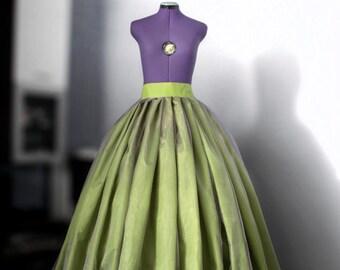 Green ball skirt Purple wedding gown Bridal maxi skirt Full prom skirt Crinoline underskirt Purple lace gown Princess organza gown Flowing