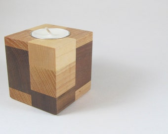 Wooden Candle Holder, Candle Holder, Tealight Candle Holder, Rustic Home Decor