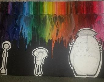 My Neighbor Totoro Rainbow Crayon Art