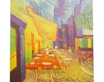 Café Terrace at Night Print Poster/ The Cafe Terrace on the Place du Forum Wall Art Poster/ Vincent Van Gogh Poster/ Van Gogh Paper Art Deco