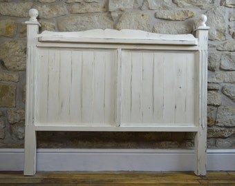 Handmade wooden double headboard