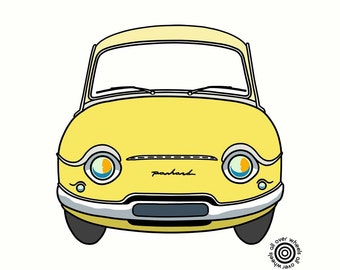 PANHARD PL17 T-SHIRT Choice of car colors DTG printed Classic Panhard PL17 art by Wheels All Over