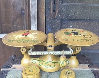 Antique Jacobs Folk Art Balance Scale