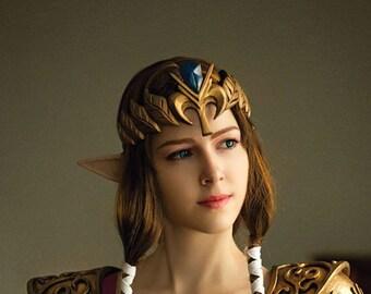 Zelda cosplay costume crown, Zelda princess, legend of zelda costume, replica prop, Link, Princess of Hyrule, Tiara , universe loz