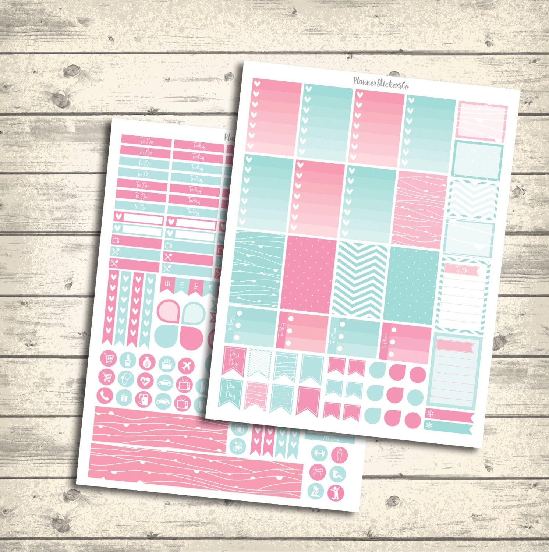 Printable Calendar Kit : Weekly kit mambi happy planner printable stickers