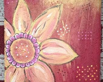 Floral Patio Stone, warm tones