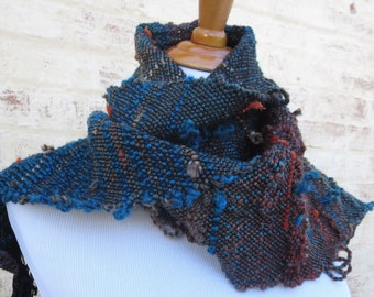 Handwoven Freestyle Earth Tones Scarf