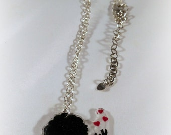 Woman with hearts necklace
